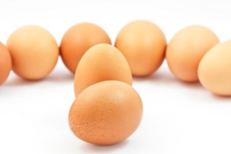 Eggs isolated on white background Stock Photo - 14761904