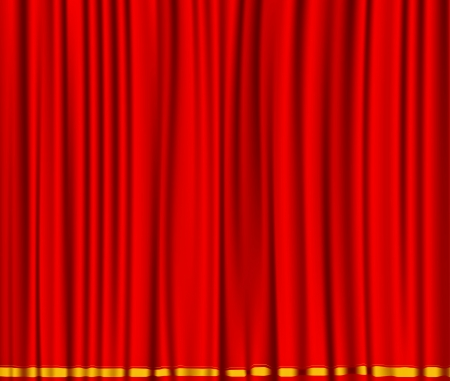 Beautiful red curtain scene Vector