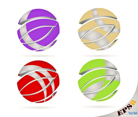 logo business: Colorful abstract business logo background