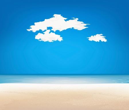 Beautiful landscape  Beach and tropical sea Stock Vector - 15550323
