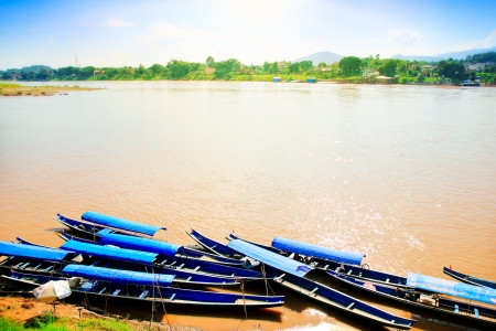 Mekong River between Thailand and Laos Stock Photo - 16332879