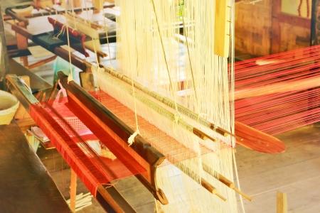 loom: Hand weaving loom background