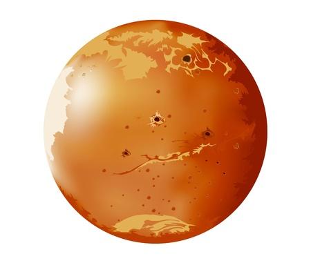 Les images vectorielles planètes Mars dans l'univers