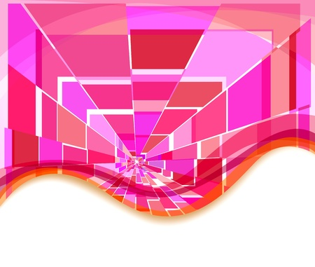 Pink squares background Stock Vector - 16685447