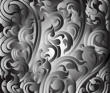 Art pattern metal style background Stock Vector - 16950619