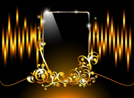 shiny glossy like smart phone dark color background Vector
