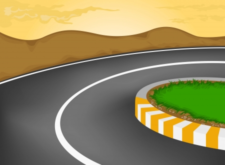 sharp curve: Sharp curve vector cartoon background