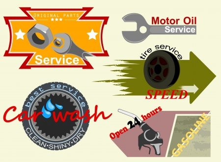 Motor badges label Vector