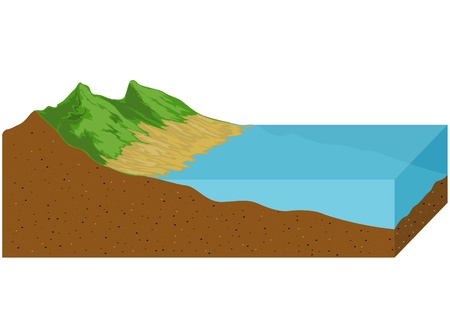 tide: El mar se retira la marea baja fondo de la naturaleza geol�gica Vectores