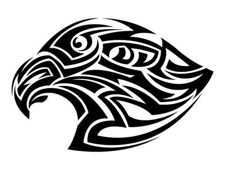 Negro águila de cabeza sobre un fondo blanco Foto de archivo - 21919904