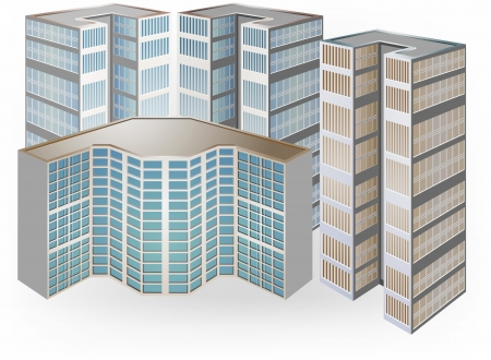 townscape: Condominium vector on a white background