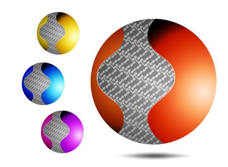 Logos krąg biznesowe wzór na białym tle Ilustracja