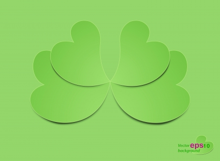 heart shaped leaves: Beautiful heart shaped leaves vector background
