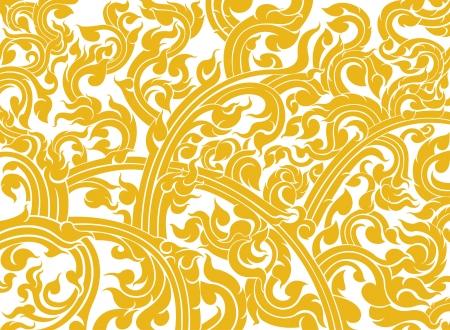 白い背景の上のタイのアート パターン スタイル