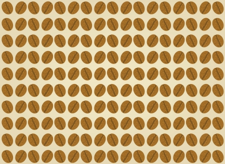 chicchi di caff�: Chicchi di caff� scena su sfondo marrone Vettoriali