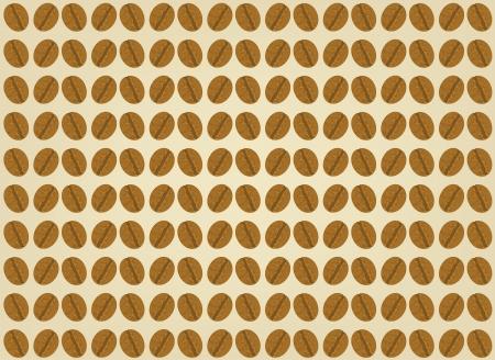 coffee beans: Los granos de caf� escena en un fondo marr�n