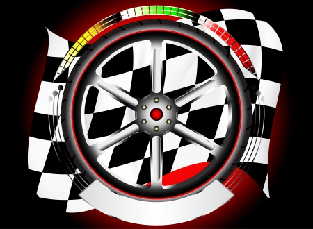 alloy wheel: Glossy wheel alloy emblem with race flag,non brand wheel alloy new design