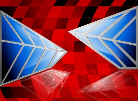glass reflection: The blue glass reflection abstract background Illustration