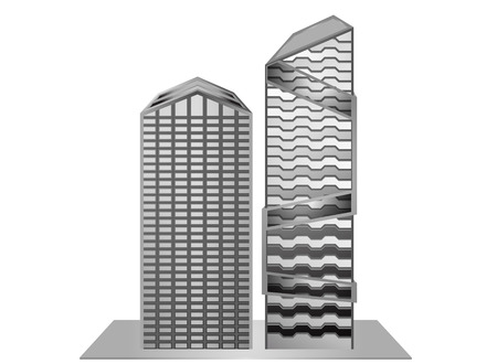 gray scale: Building model sample new design gray scale Illustration