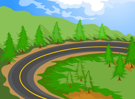 The road cartoon landscape nature background
