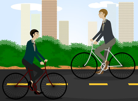 reduces: Clean energy,Cycling reduces pollution vector cartoon background