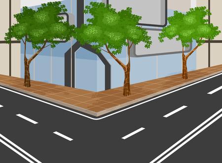 city background: modern city background Illustration