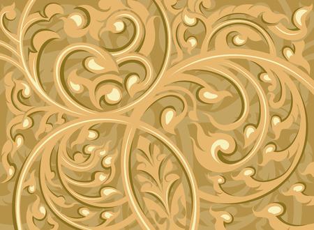 vine art: Beautiful brown vine art pattern background Illustration
