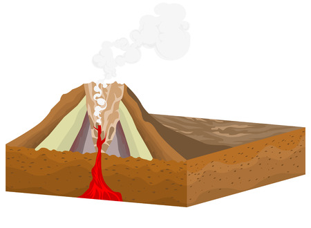 crater: Crater volcano on a white background