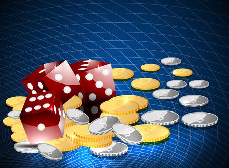 Gambling casino playing background Vector