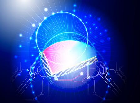 lichteffekte: CPU-Lichteffekte Vektor Technologie Hintergrund