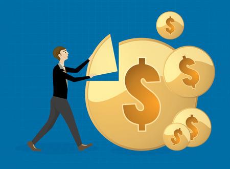 more money: Businessman make more money,Business concepts background