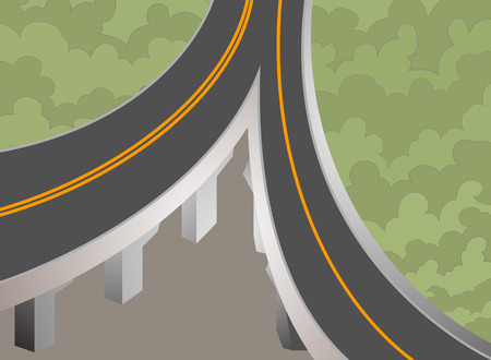 super highway: Elevated super highway transportation background