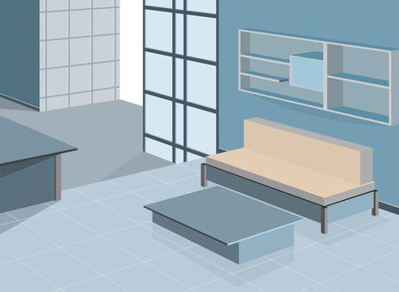 citylife: Blue living room scene,interior background