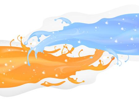splashy: Splashy abstract on a white