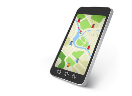 three dimensional accessibility: Map on the smartphone screen
