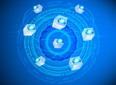 provider: Cloud computing circling provider technology Illustration