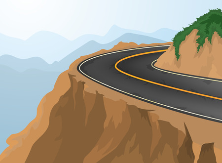 abyss: Curves and deep abyss,road and nature vector background