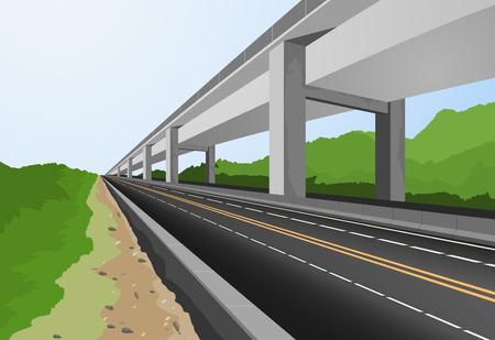 Auto-estrada para cidade, o transporte vector background Ilustração