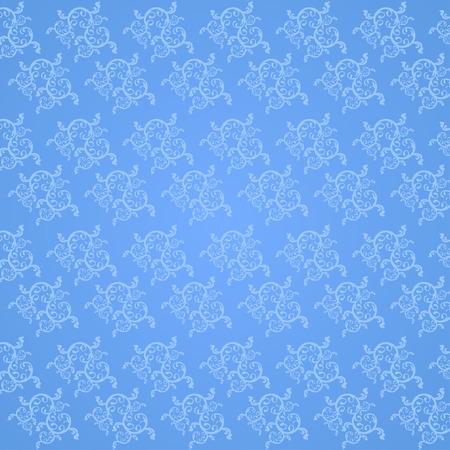 vine art: Beautiful vine art pattern on a blue background