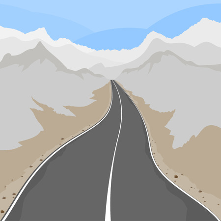country road: Country road,transport scene vector background