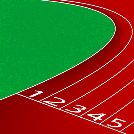 Racetrack scene,sports and exercise vector background