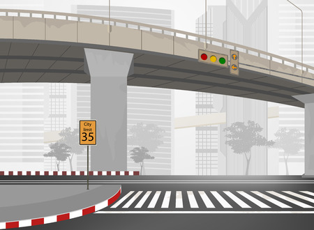 City streets,townscape vector background Illustration