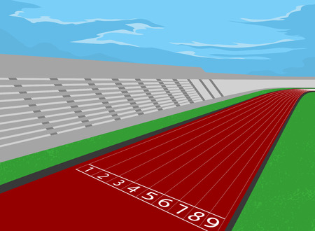 Stadium and racetrack,sport vector background