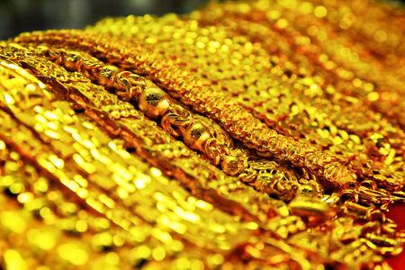 mineralization: Close up gold wristband scene Stock Photo