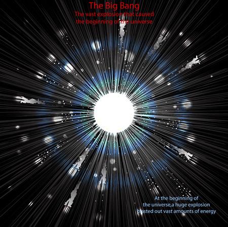 big bang theory: The Big Bangvector sciences and space background