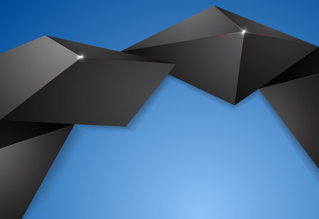 low angles: Abstract shape low poly graphics vector background