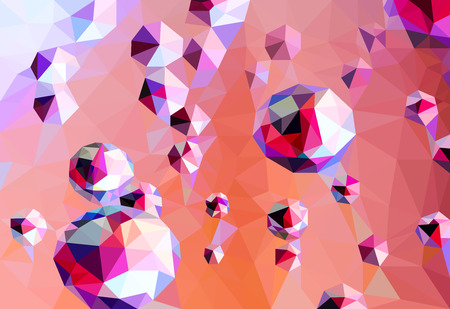 low angles: Water drop abstract shape scene low poly background