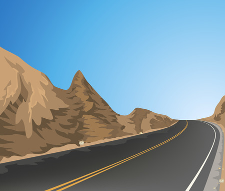 mountain road: Beautiful view country road,nature landscape vector background