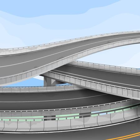 motorway: Motorway,transportation vector background Illustration