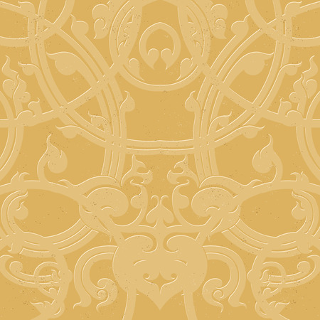 concave: Gold striped,grunge style on paper vector background